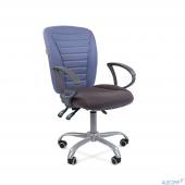 7015600 Офисное кресло Chairman 9801 Эрго сид.10-128 серый/сп.10-141 голубой