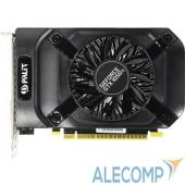 PA-GTX1050TiStormX4G Видеокарта PALIT GeForce GTX1050Ti StormX 4G nVidia GTX1050TI 4096Mb 128bit 1290/7000 DVIx1/HDMIx1/D