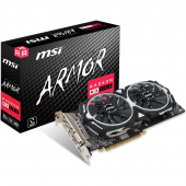RX 580 ARMOR 8G Видеокарта AMD Radeon RX 580 8Gb DDR5, MSI RX 580 ARMOR 8G