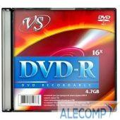 VSDVDRSL501 Диски VS DVD-R 4.7Gb, 16x, Slim Case 5шт.