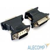 A-VGAM-DVIF-01 Cablexpert Переходник VGA-DVI, 15M/25F, черный, пакет (A-VGAM-DVIF-01)