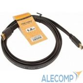 CG200F-1.5M Кабель HDMI (M) -> HDMI (M),  1.5m, TV-COM (CG200F-1.5M), V1.4b, плоский