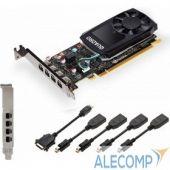 VCQP620DVIV2BLK-1 VCQP620DVIV2BLK-1 VGA PNY NVIDIA Quadro P620, 2 GB GDDR5/128-bit, PCExpress 3.0 x16, DP 1.4x4, 4xminiDisplayPort - DVI-D