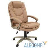 7011067 Офисное кресло Chairman 668 LT   Россия чер.пласт экопремиум коричневый  7011067