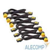 AP8706R-WW Power Cord Kit (6 pack), Locking, C13 to C14 (90 Degree), 1.8m (repl. AP8706R)