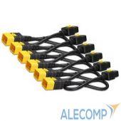 AP8716S APC Power Cord Kit (6 pack), Locking, IEC 320 C19 to IEC 320 C20, 16A, 208/230V, 1,8m