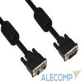 VDV6300-3M Кабель DVI-DVI Dual Link (25M-25M) VCOM, 3m, 2 фильтра