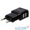 29855 Orient Зарядное устройство USB от эл.сети PU-2402, DC 5V, 2100mA, 2 выхода (iPad,Galaxy), черный