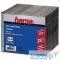 825821 HAMA Коробка для 1 CD slim, прозрачный/черный, 25 шт. H-51167