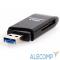 CR-018B USB 3.0 Card Reader/W Mini SDXC/SD3.0/SDHC/microSD/T-Flash (CR-018B), поддержка OTG, microUSB, черный