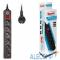 600SH-3-B BURO Сетевой фильтр, 6 розеток, 3 метра, (600SH-3-B), черный 992272