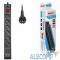 BU-SP5_USB_2A-B BURO Сетевой фильтр, 6 розеток, 5 метров, (BU-SP5_USB_2A-B) черный 992320