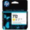 3ED69A 3ED69A Cartridge HP 712 для DJ T230/T630/T650/Studio, желтый, 29 мл